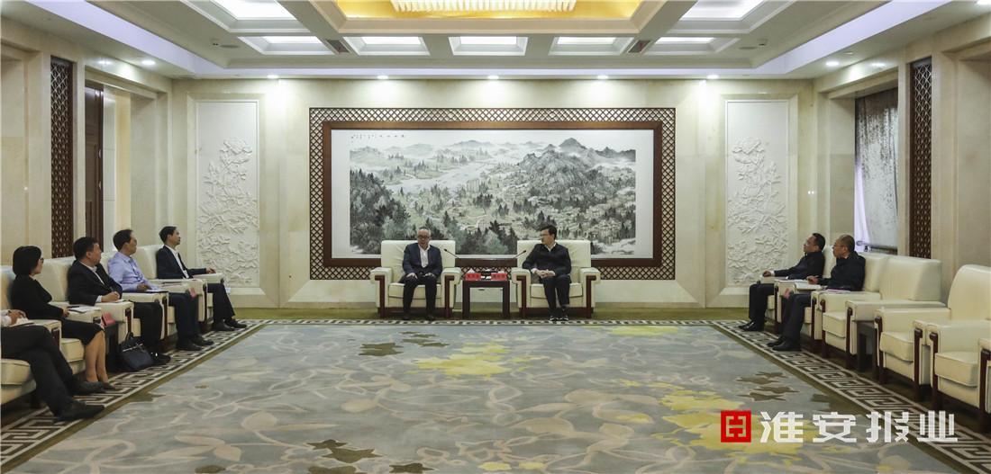 淮安市委副書記、市長陳之常會見國家開發銀